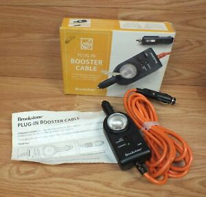 Genuine Brookstone 12ft D c Plug in Car Battery Charging Booster Cable 221812