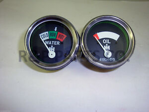 Oil Temp 2 Gauge Set For Farmall Ih H Sh Sm Smd Smta W Sw 1947 1954