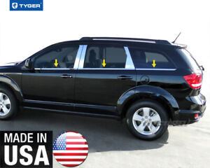 Tyger Fits 09 2018 Dodge Journey 6pc Stainless Steel Chrome Window Sill Overlay