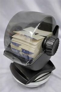 Large Swivel Based Rolodex Organizer 2 1 4 X 4 Index A z Blank Cards Vgc