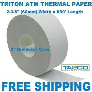 Triton Atm Thermal Receipt Paper 8 New X large Rolls Free Shipping