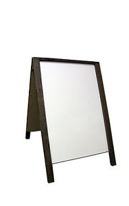 Dry Erase Double Sided Sidewalk Pavement A frame Restaurant Menu Board Sign Wood