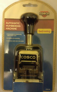 Cosco 2000 Plus Automatic Numbering Machine 6 Wheels Self inking Black 026138