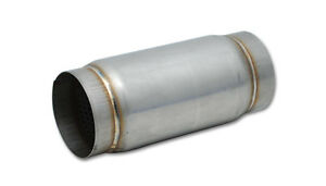 Vibrant Performance T304 Stainless Steel Race Muffler 3 5 In 3 5 Out 9 Long