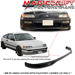 For 88 89 90 Ef Honda Civic Crx Type R Ctr Front Chin Spoiler Lip Urethane