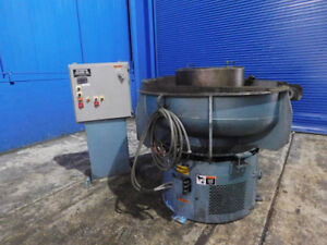 8 Cubic Feet Automated Finishing Mdl 810d Vibratory Metal Deburrer W Dryer