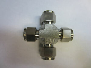 Stainless Steel Union Cross Fitting 3 4 Tube Od Compatible Ss 1210 4