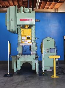75 Ton Bliss C75 Obi Punch Press 36 x 24 bed 50 100 Spm Power Punch Forming