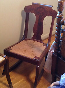 Antique Sewing Rocker Mahogany