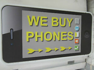 24x48 We Buy Phones Corrugated Plastic Promo Sign for Smartphone Buyers Iphone