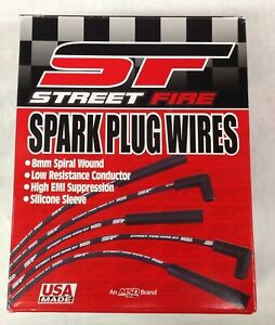 Msd 5552 Plug Wire Kit Street Fire Spark Plug Wires For V8 Universal 90 Hei 8mm