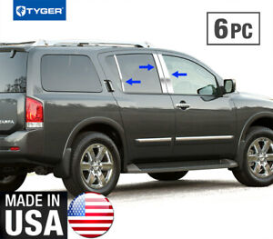 Tyger For 2005 2015 Nissan Armada 6pc Stainless Steel Chrome Pillar Post Trim