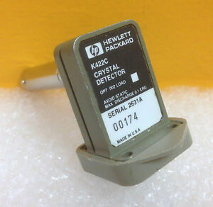 Hp K422c wr42 18 0 To 26 5 Ghz Negative Output Polarity Diode Detector