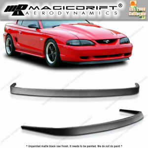 For 94 98 Ford Mustang Front Bumper Lip Spoiler Body Kit Chin Urethane Mach 1