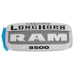 11 18 Dodge Ram 3500 Chrome Laramie Longhorn Edition Emblem Nameplate Mopar New