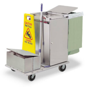 Royce Rolls c30 lst2e Stainless Steel Mini size Microfiber Housekeeping Cart