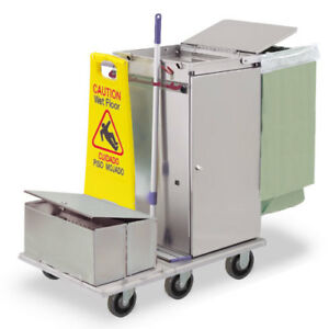 Royce Rolls f30 lst2e Stainless Steel Std Microfiber Housekeeping Cart