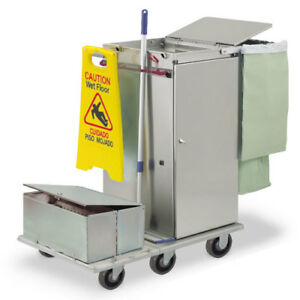 Royce Rolls f36 lst2e Stainless Steel Std size Microfiber Housekeeping Cart