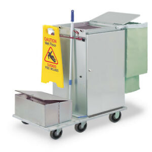 Royce Rolls f2436 lst2e Stainless Steel Wide mini Microfiber Housekeeping Cart