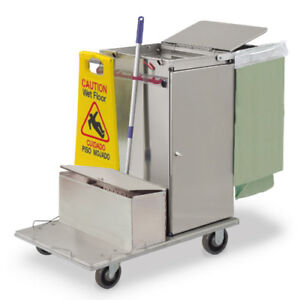 Royce Rolls c30 lst1e Stainless Steel Mini size Microfiber Housekeeping Cart