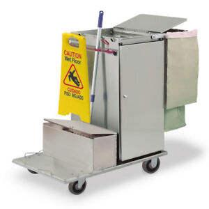 Royce Rolls c36 lst1e Stainless Steel Std size Microfiber Housekeeping Cart
