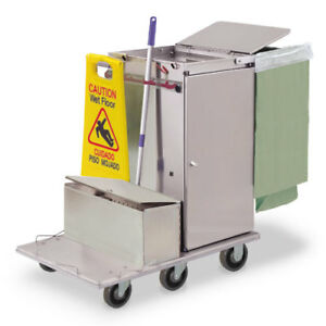 Royce Rolls f30 lst1e Stainless Steel Mini size Microfiber Housekeeping Cart