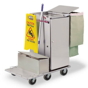 Royce Rolls f36 lst1e Stainless Steel Mini size Microfiber Housekeeping Cart