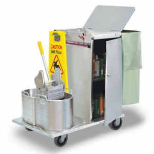 Royce Rolls c30 08e Stainless Steel Mini size Non folding Housekeeping Cart