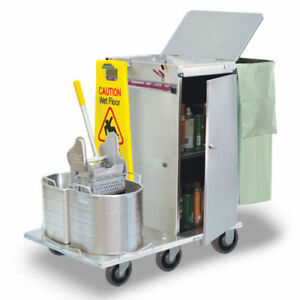Royce Rolls f30 08e Stainless Steel Mini size Folding Housekeeping Cart