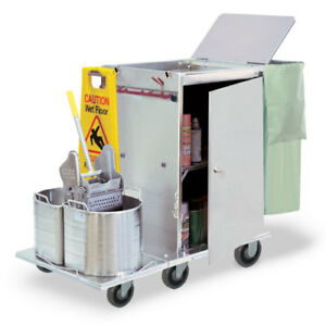 Royce Rolls f2430 08e Stainless Steel Wide mini size Folding Housekeeping Cart