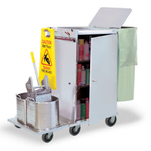 Royce Rolls f2436 08e Stainless Steel Wide size Folding Housekeeping Cart