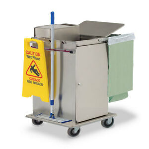 Royce Rolls mp30e Stainless Steel Mini size Microfiber Housekeeping Cart