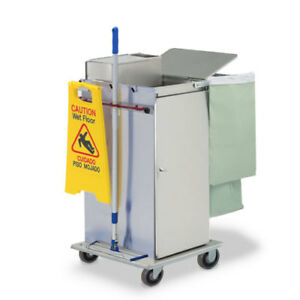 Royce Rolls mp36e Stainless Steel Std size Microfiber Housekeeping Cart