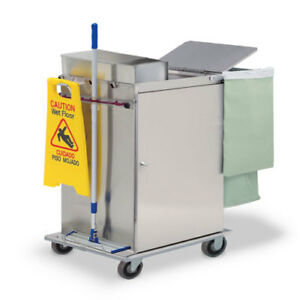 Royce Rolls mp2436e Stainless Steel Wide size Microfiber Housekeeping Cart