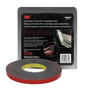3m Automotive Acrylic Plus Attachment Tape Black 06382 6382