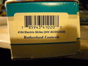 Rutherford Controls Rci Electric Strike Model 4104 24 Vac dc Fail Locked Secure