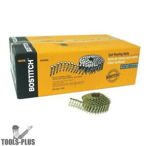 Bostitch 7 200 1 1 4 Smooth Shank 15 Coil Roofing Nails Galvanized Cr3dgal New
