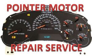 02 07 Chevy Trailblazer Instrument Cluster Gauge Stepper Motor Repair Service