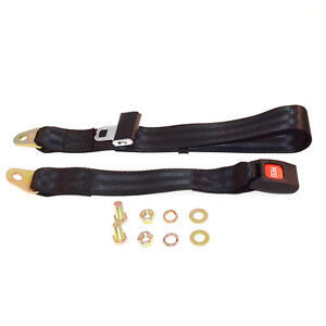 60 Rear Non Retractable Lap Seat Belt For 76 95 Jeep Cj Yj By Black Mountain