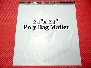 5 Poly Bag Mailers Extra Large 24x24 Self sealing Shipping Envelope Bags