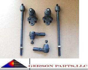 Camry Lexus Es300 92 01 Front Kit 2 Inner 2 Outer Tie Rod End 2 Lower Ball Joint