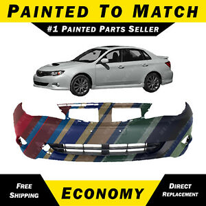 New Painted To Match Front Bumper Cover For 2008 2011 Subaru Impreza And Wrx