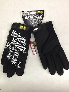Mechanix Wear Gloves large Black mg 05 010 Mechanic Gloves Synthetic Leather new