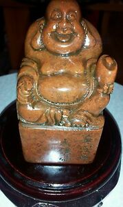 100 Natural Shoushan Stone Carved Buddha God Of Wealth Seal