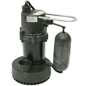 Little Giant 5 5 asp 1 4 Hp Submersible Sump Pump W Vertical Float Switch