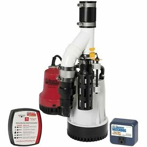 Basement Watchdog Dfk 961 1 3 Hp Combination Primary And Backup Sump Pump S