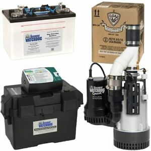 Basement Watchdog 1 2 Hp Combination Primary And Backup Sump Pumps W battery