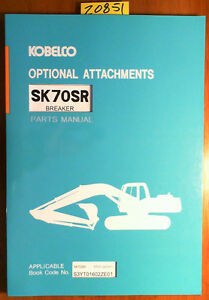 Kobelco Sk70sr S n Yt01 00101 Excavator Breaker Parts Manual S3yt01602ze01 7 98