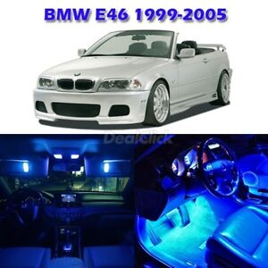 7 Blue Interior Light Lamp Package For Bmw E46 Sedan Wagon Coupe Convertible