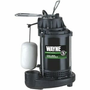 Wayne Cdu800 1 2 Hp Cast Iron Submersible Sump Pump W Vertical Float Switch